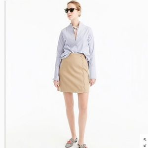 J. Crew Scalloped Wool & Gabardine Pencil Skirt